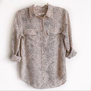 Equipment Femme animal print silk blouse xsmall